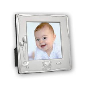 Cornice Balloon Silver Plated 3.25x3.25 Photo Frame