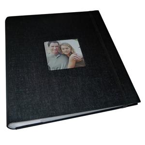 Aztec Black Slip In 7x5 Photo Album - 200 Photos