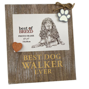 Photo Frame 6' x 4' - Best Dog Walker Ever