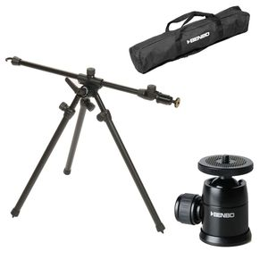 Benbo Trekker Tripod Mk3 with Mini Ball Head and Bag | 160CM Max. Height | 2KG Weight | BEN107C