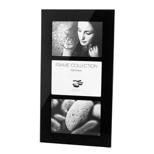 Black Glass Frame for 3 6x4 Inch Photo