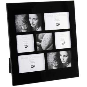 Black Glass Frame for 7 6x4 Inch Photo
