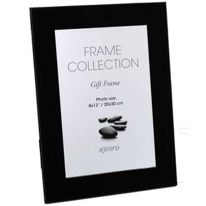 Black Glass 12x8 Photo Frame
