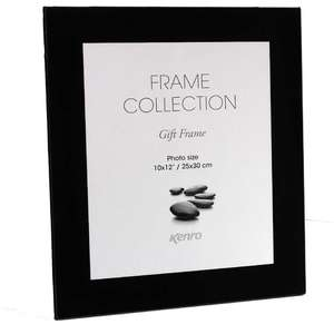 Black Glass 12x10 Photo Frame