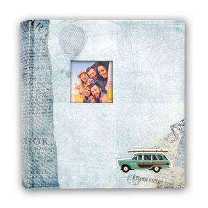 Bogota Blue 6.5x4.5 Slip In Photo Album - 200 Photos Overall Size 8.5x9.5