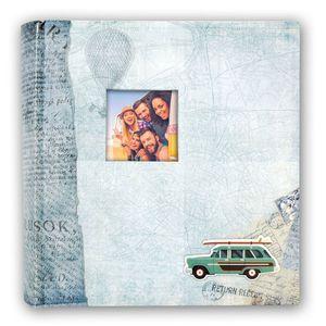 Bogota Blue 7.5x5 Slip In Photo Album - 200 Photos Overall Size 11x9.5