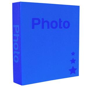 Basic Dark Blue 6.5x4.5 Slip In Photo Album - 200 Photos Overall Size 10.5x8.25 Inches