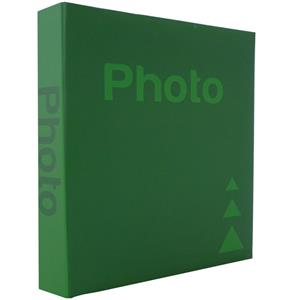 Basic Green 6.5x4.5 Slip In Photo Album - 200 Photos Overall Size 10.5x8.25 Inches