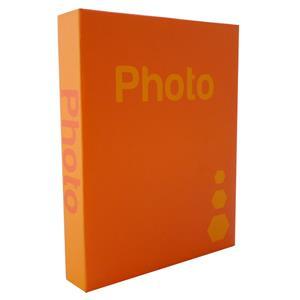 Basic Orange 6.5x4.5 Slip In Photo Album - 200 Photos Overall Size 10.5x8.25 Inches