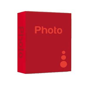 Basic Red 6.5x4.5 Slip In Photo Album - 200 Photos Overall Size 10.5x8.25 Inches