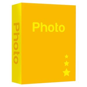 Basic Yellow 6.5x4.5 Slip In Photo Album - 200 Photos Overall Size 10.5x8.25 Inches