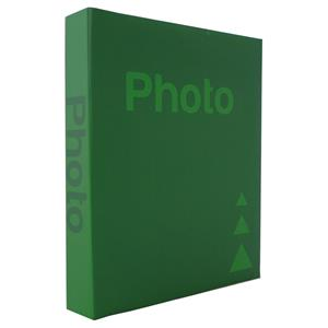Basic Green 6.5x4.5 Slip In Photo Album - 300 Photos Overall Size 10.75x8
