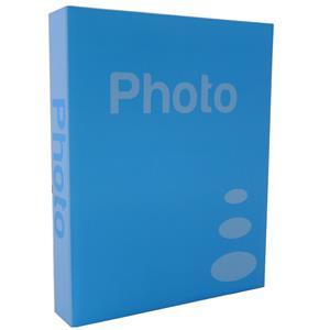Basic Light Blue 6.5x4.5 Slip In Photo Album - 300 Photos Overall Size 10.75x8
