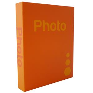 Basic Orange 6.5x4.5 Slip In Photo Album - 300 Photos Overall Size 10.75x8