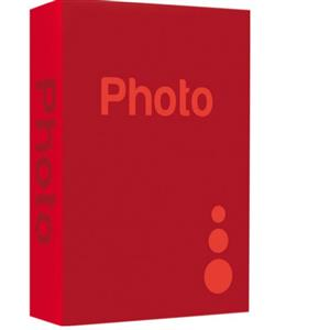 Basic Red 6.5x4.5 Slip In Photo Album - 300 Photos Overall Size 10.75x8