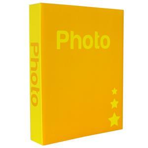 Basic Yellow 6.5x4.5 Slip In Photo Album - 300 Photos Overall Size 10.75x8