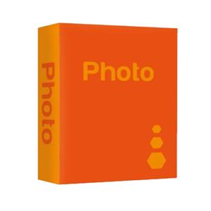 Basic Orange 6x4 Slip In Photo Album - 402 Photos