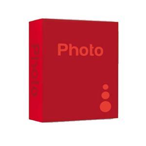 Basic Red 6x4 Slip In Photo Album - 402 Photos
