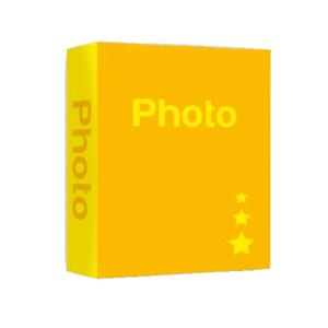Basic Yellow 6x4 Slip In Photo Album - 402 Photos