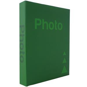 Basic Green 7.5x5 Slip In Photo Album - 200 Photos Overall Size 12x9.5