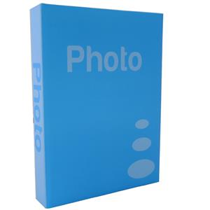 Basic Light Blue 7.5x5 Slip In Photo Album - 200 Photos Overall Size 12x9.5