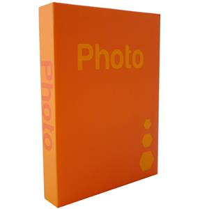Basic Orange 7.5x5 Slip In Photo Album - 200 Photos Overall Size 12x9.5