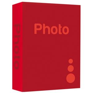 Basic Red 7.5x5 Slip In Photo Album - 200 Photos Overall Size 12x9.5