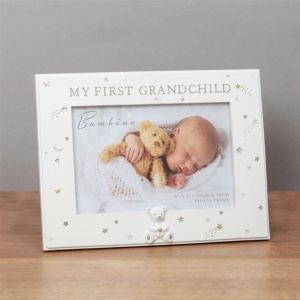 Bambino Baby Photo Frame | My First Grandchild | Teddy Bear Icon | 6 x 4 inch