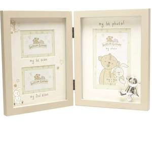 Button Corner MDF Photo Frame First & Second Scan & First Photo CG783