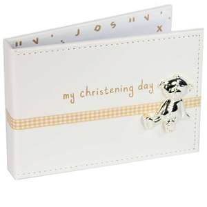 Button Corner PU Album with Ribbon and My Christening Icon CG794