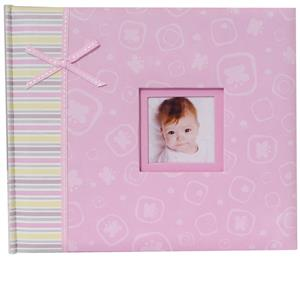 Claire Baby Pink 6x4 Photo Album 48 Photos Overall Size 8.5x10.25