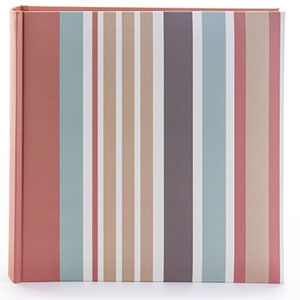 Candy Stripes Slip In 6x4 Photo Album - 200 Photos