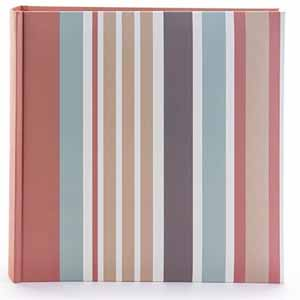 Candy Stripes 7x5 Slip In Photo Album, 200 Photos