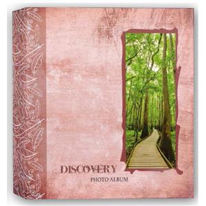 Discovery Pink 6.5x4.5 Slip In Photo Album - 200 Photos