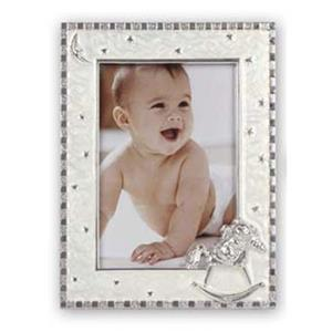Roxy Silver Enamel 6x4 Photo Frame