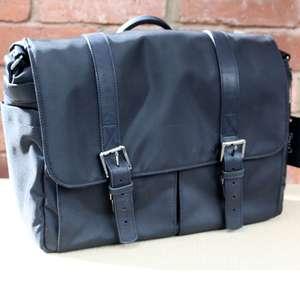 Ex-Demo ONA Brixton Black Nylon Messenger Bag