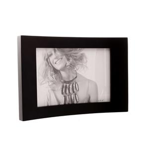 Ferrara Curved Black 6x4 Photo Frame Double Sided