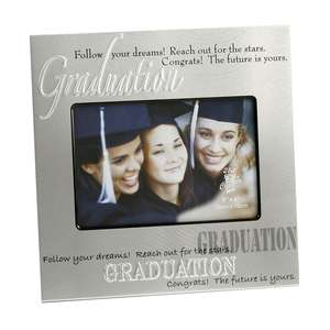 Silver Follow Your Dreams Graduation Photo Frame With Verse 8