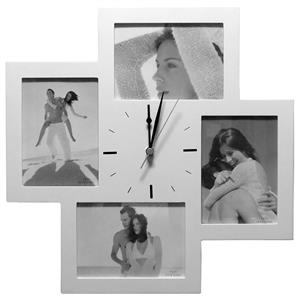 Bergamo Clock Multi Aperture Photo Frame For 4 7x5 Photos