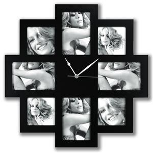 Photo Time Taranto Multiple Aperture Photo Frame and Clock