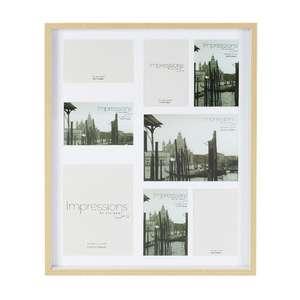 Impressions Light Oak Effect Multi Photo Frame Holds 8 Photos