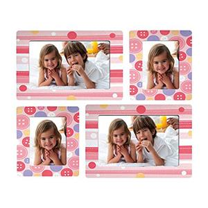 Sticky Photo Frame for 4 Photos - Pink