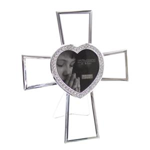 Juliana Silverplated Cross 3x3 Photo Frame
