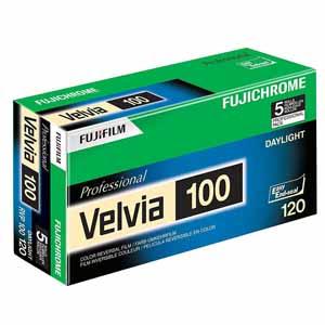 Fujifilm Velvia 100 120 Colour Slide Roll Film Pack of 5