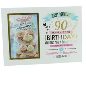 90th Birthday 6x4 Photo Frame