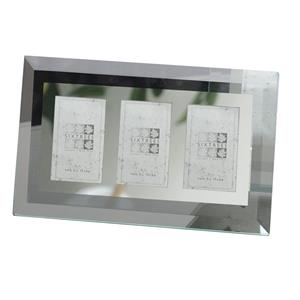 Sixtrees Stanbridge Triple Flat Bevelled Glass 2x3 Photo Frame