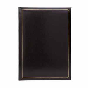 Grafton Black 6x4 Slip In Photo Album for 200 Photos Black Pages