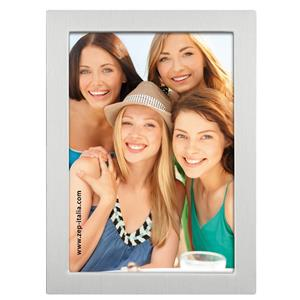 Adam Brushed Silver 8x6 Photo Frame