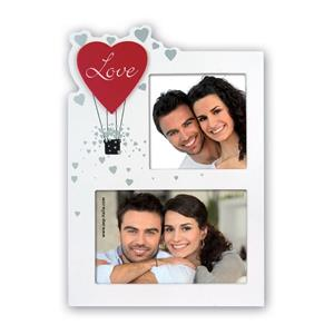 Helena White Love Photo Frame for 2 Photos