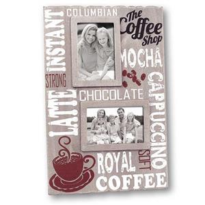 Royal Coffee Wood Twin  6x4 Photo Frame